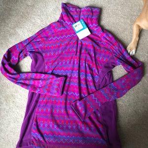 Columbia Tops - NWT purple half zip Columbia